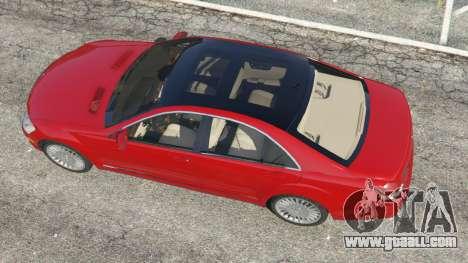 GTA 5 Mercedes-Benz S550 W221 v0.4.1 [Alpha] back view