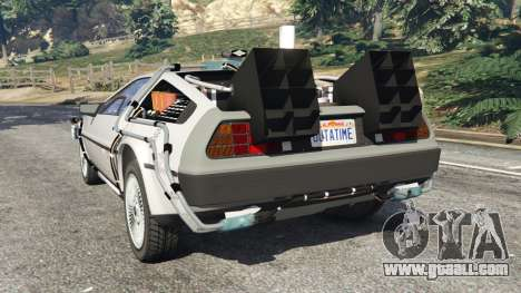 GTA 5 DeLorean DMC-12 Back To The Future v0.3 rear left side view