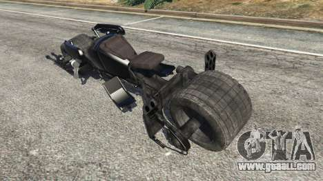 GTA 5 Batpod v1.1 rear left side view