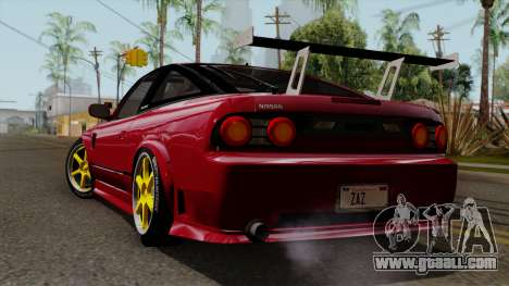 Nissan 180SX Street Golden Rims for GTA San Andreas left view