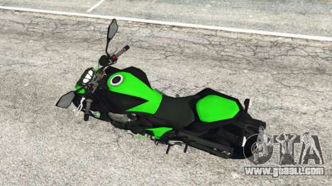 GTA 5 Kawasaki Z800 2014 back view