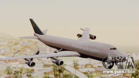 Boeing 747 United Airlines for GTA San Andreas