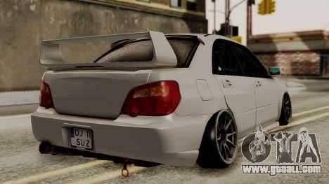 Subaru Impreza WRX STI HQ for GTA San Andreas left view