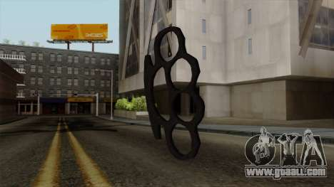 New brass knuckles for GTA San Andreas
