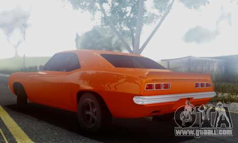 Chevy Camaro 69 for GTA San Andreas back left view