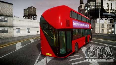 Wrightbus New Routemaster Abellio London for GTA 4 back left view