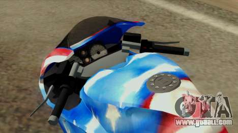 Bati America Motorcycle for GTA San Andreas back view