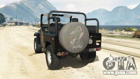 GTA 5 Toyota Land Cruiser (J40) 1978 [Beta 3b] rear left side view
