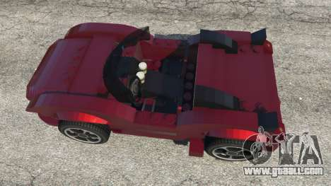 GTA 5 LEGO Car back view