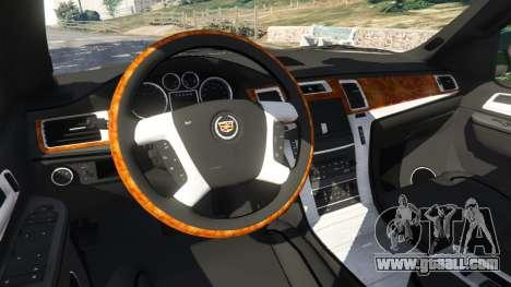 GTA 5 Cadillac Escalade ESV 2012 right side view