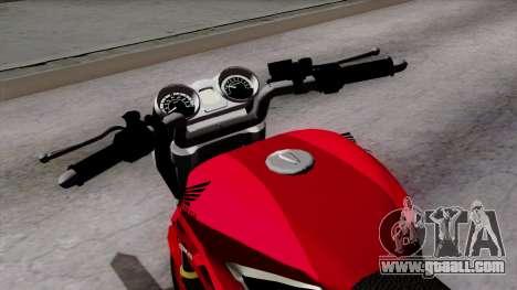 Honda Twister 2014 for GTA San Andreas back view