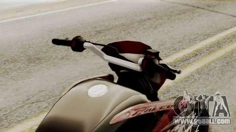 Honda NX400 Falcon for GTA San Andreas back view