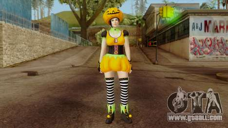 Dead or Alive 5 Mila Halloween for GTA San Andreas second screenshot