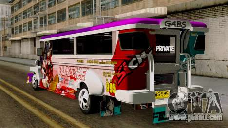 Znranomics - Costum Jeepney (Gabshop) for GTA San Andreas left view