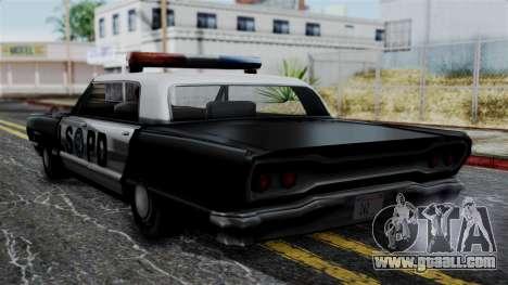 Police Savanna 2.0 for GTA San Andreas left view