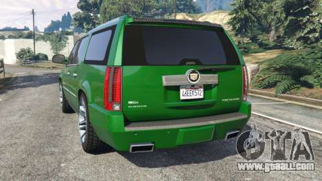 Cadillac Escalade ESV 2012 for GTA 5