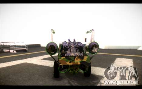 Camo Space Docker for GTA San Andreas back left view