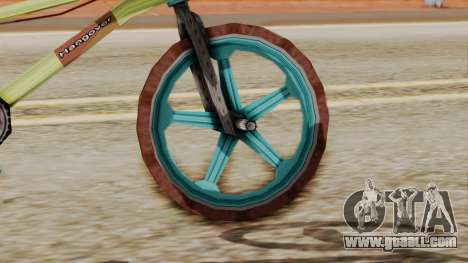 Crap BMX for GTA San Andreas back left view