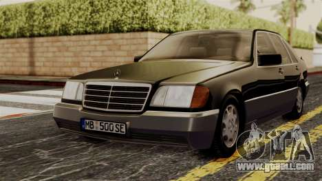 Mercedes-Benz W140 500SE 1992 for GTA San Andreas