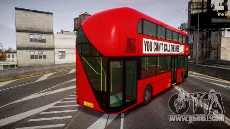 Wrightbus New Routemaster Go Ahead London for GTA 4 back left view