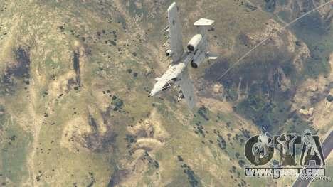 GTA 5 A-10A Thunderbolt II 1.1 eighth screenshot