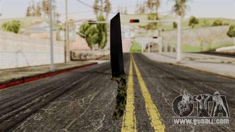 New camo knife for GTA San Andreas