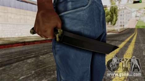 New camo knife for GTA San Andreas third screenshot
