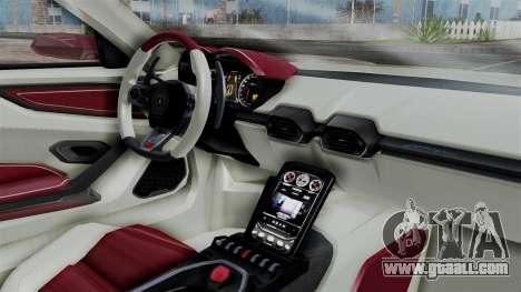 Lamborghini Asterion 2015 Concept for GTA San Andreas right view