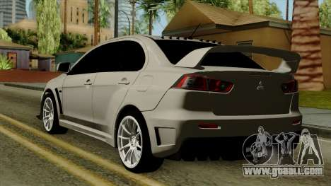 Mitsubishi Lancer Evolution X FQ400 Pro for GTA San Andreas left view