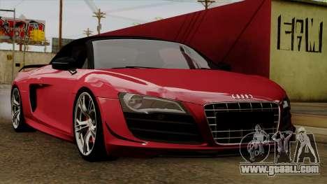 Audi R8 GT Spyder 2012 for GTA San Andreas