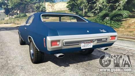 GTA 5 Chevrolet Chevelle SS 1970 v0.1 [Beta] rear left side view