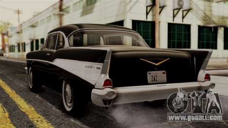 Chevrolet Bel Air Sport Coupe (2454) 1957 IVF for GTA San Andreas left view