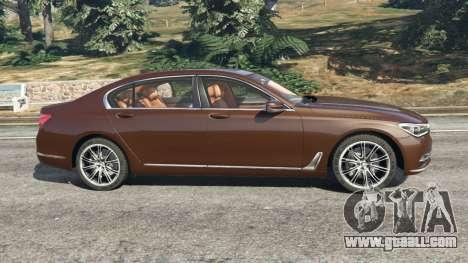 GTA 5 BMW 750Li 2016 v1.1 left side view