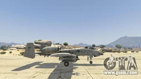 GTA 5 A-10A Thunderbolt II 1.1 fifth screenshot