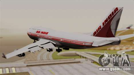 Boeing 747-400 Air India Old for GTA San Andreas left view