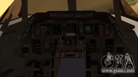 Boeing 747-100 National Airlines for GTA San Andreas back view