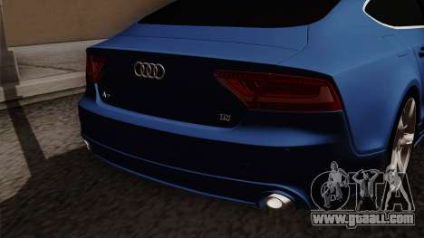 Audi A7 Sportback 2009 for GTA San Andreas back view