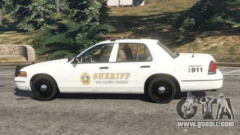 GTA 5 Ford Crown Victoria 1999 Sheriff v1.0 left side view