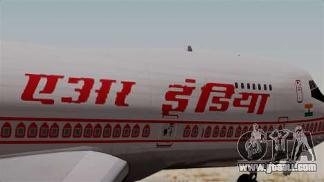 Boeing 747-200 Air India VT-ECG for GTA San Andreas back view