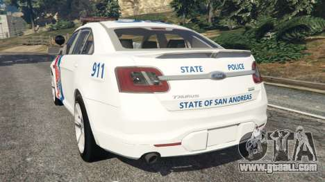GTA 5 Ford Taurus State Troopers San Andreas rear left side view