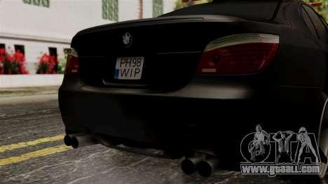 BMW M5 E60 Vossen v1 for GTA San Andreas inner view