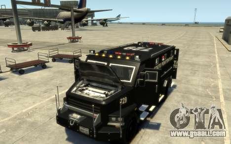 International 4000-Series SWAT Van for GTA 4 inner view