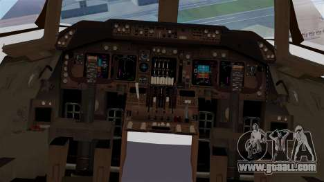 Boeing 747 British Airlines (Landor) for GTA San Andreas inner view