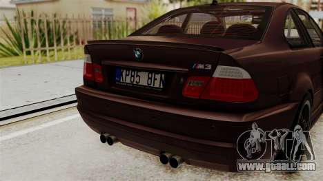 BMW M3 E46 2005 Stock for GTA San Andreas back view