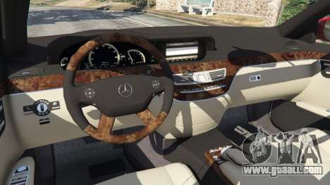 GTA 5 Mercedes-Benz S550 W221 v0.4.1 [Alpha] steering wheel