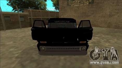 Chevrolet C10 Drift Monster Energy for GTA San Andreas inner view