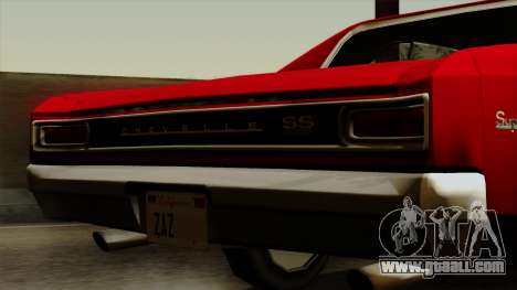Chevrolet Chevelle SS396 1966 for GTA San Andreas right view