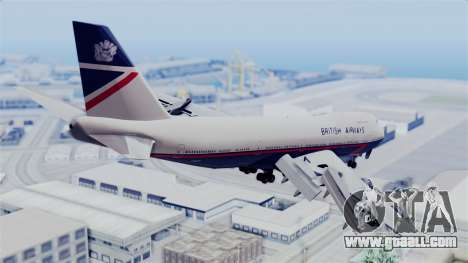 Boeing 747 British Airlines (Landor) for GTA San Andreas left view
