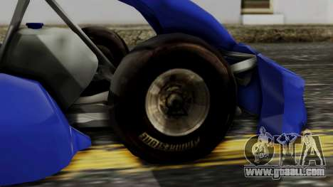 Crash Team Racing Kart for GTA San Andreas back left view