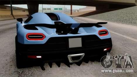 Koenigsegg Agera R 2014 Carbon Wheels for GTA San Andreas engine